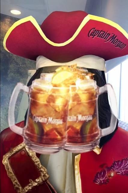 Captain Morgan Snapchat ad