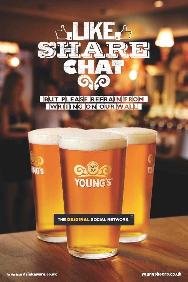 Young's pubs Original Social Network campaign