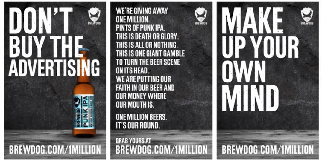 BrewDog 1m free pints campaign